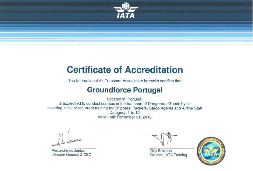 IATA renews DGR Training Accreditation for Groundforce Portugal